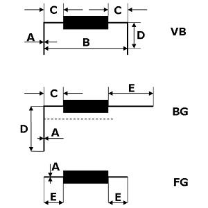 Cutbend axial formes